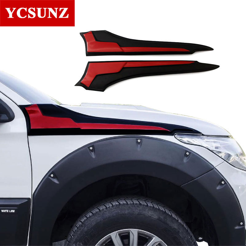 2019 Side Hood Guard Cover for Mitsubishi l200 Triton 2016-2019 Side Vent Decoration Accessories For Mitsubishi L200 2019 Ycsunz2019 Side Hood Guard Cover for Mitsubishi l200 Triton 2016-2019 Side Vent Decoration Accessories For Mitsubishi L200 2019 Ycsunz