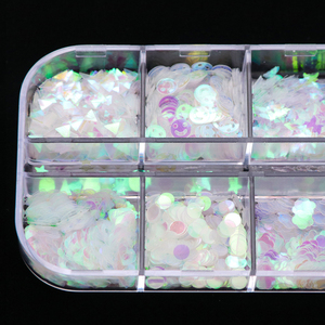 Image 5 - 1 fall Meerjungfrau Symphonie Nail art Glitter Pailletten Flocke Holographische Laser Mixed Form 3D Schmetterling Scheibe DIY Maniküre Decor JIHW 2