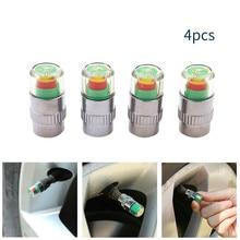 hot deal buy 4pcs 2.4bar 30psi car auto tire pressure alarm monitor valve stem caps sensor indicator eye alert diagnostic tools kit