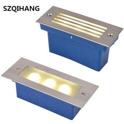 Zewnętrzne oświetlenie stopni LED wodoodporne schody światło podziemne do montażu naściennego lampa Deck Footlights 85-265V/12V IP68