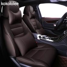 Kokololee niestandardowe prawdziwe skórzane pokrycie siedzenia samochodu dla nissan qashqai j10 almera n16 uwaga x trail t31 patrol y61 teana j31 samochód stylizacji
