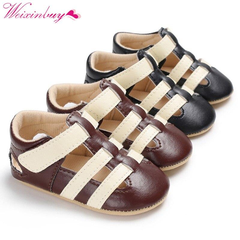 Baby Boy Sandals Baby Shoes Newborn PU Fashion Baby Sandals British Style Soft Baby Boy Sandals Prewalker