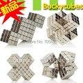 Bolas tamaño : 5 mm 125 unids/set 2 unids con caja de Metal cubo magnético bloque imán níquel juguete bola mágica