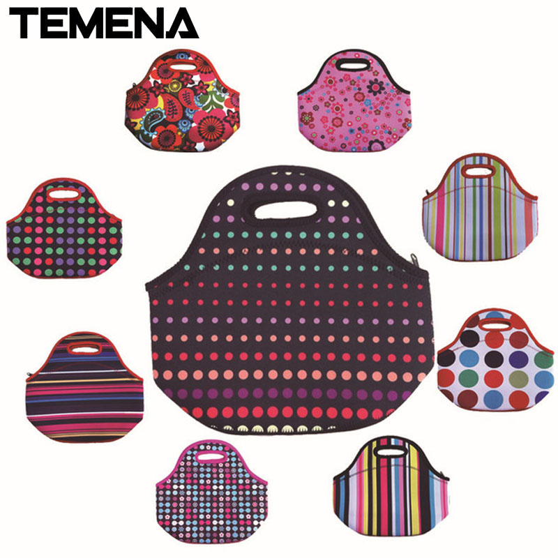 Neoprene Thermal Lunchbox Lancheira Bolsa De Franja Thermal Bag Bolsa Termica Lunch Bags Insulation For Women Lunch Tote ALB394F