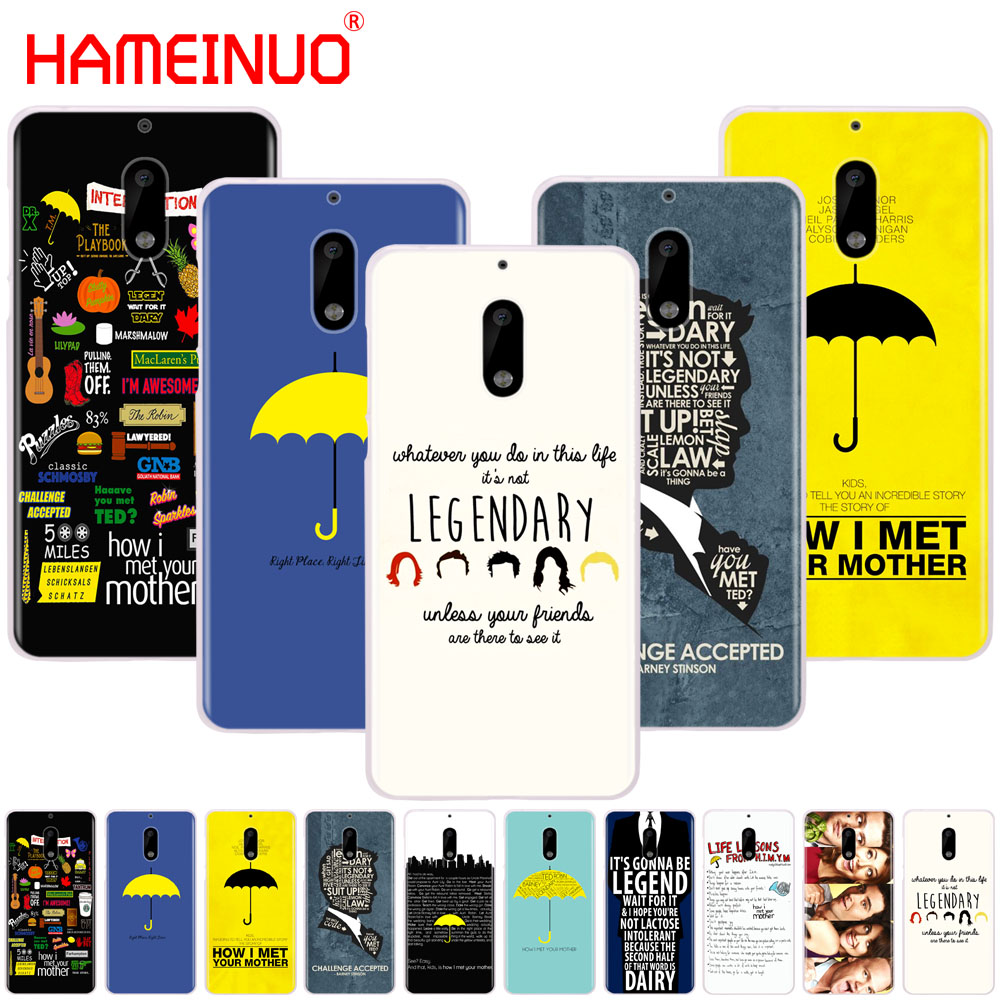 HAMEINUO how i met your mother himym quotes cover phone case for Nokia 9 8 7 6 5 3 Lumia 630 640 640XL 2018