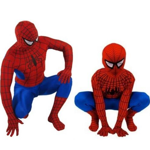 2019 Spider Man Spiderman Costume Fancy Dress Adult And Children Halloween Costume Red Black Spandex Cosplay Clothing