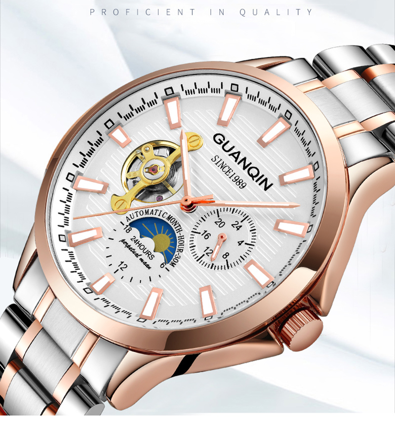 HTB1Tf1Va75E3KVjSZFCq6zuzXXa1 GUANQIN 2019 new watch men waterproof Automatic Luminous men watches top brand luxury skeleton clock men leather erkek kol saati