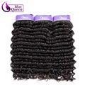 Pineapple Wave Hair 3 Pcs Brazilian Deep Wave Extensions Tissage Bresilienne Lots 7A Brazilian Deep Curl Wet n Wavy Human Hair
