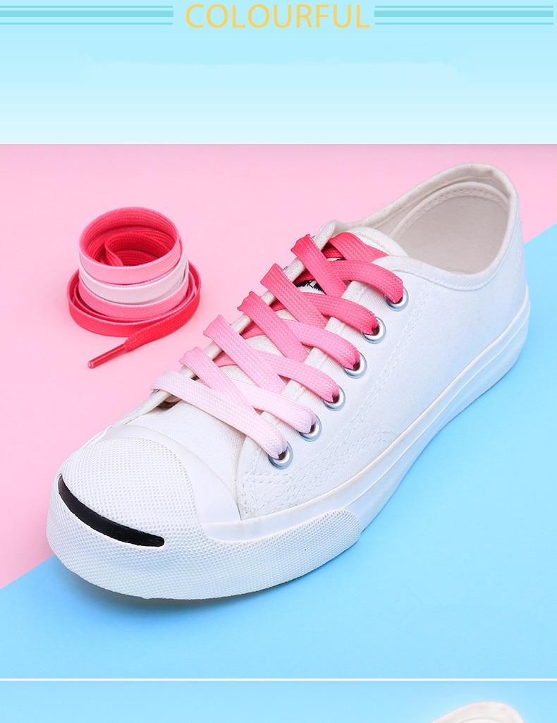 304545f80e Colore Degrade Calzature Lacci piatte Scarpe da tennis Scarpe piatte 100cm  120cm
