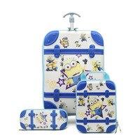 6D squeeze EVA16 inch children cartoon boy suitcase child car climb stairs suitcase travel spiderman children's trolley case.