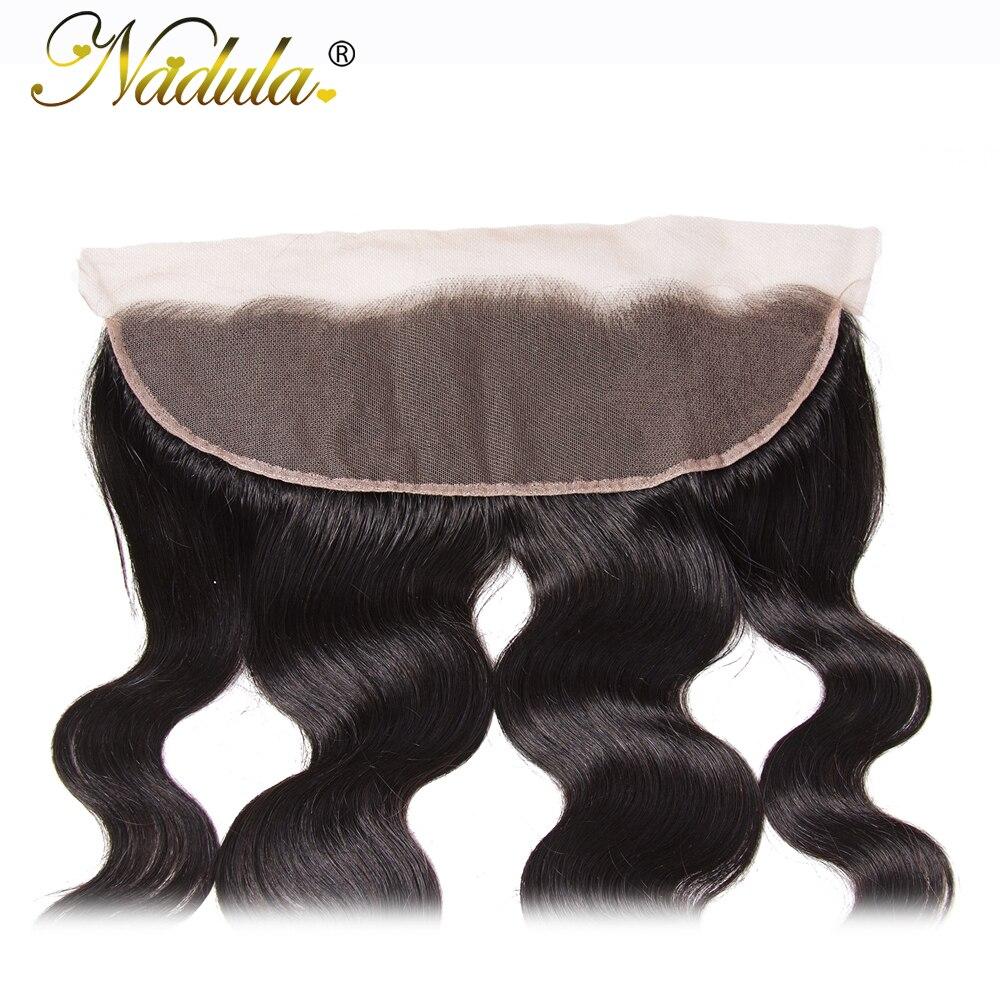 Nadula Hair  Body Wave Lace Frontal 13*4 Swice Lace 10-20inch  Hair 100%   Ship Free 3