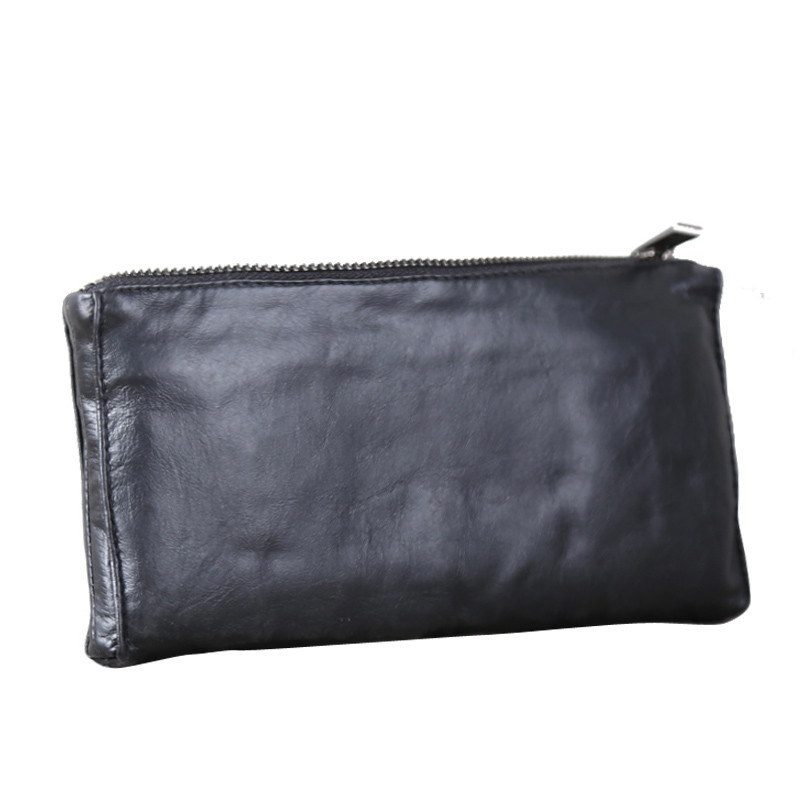 Alisara Phone Wallet Clutch-Bag Handmade Cowhide High-Quality Fashion Long Men 100%First-Layer
