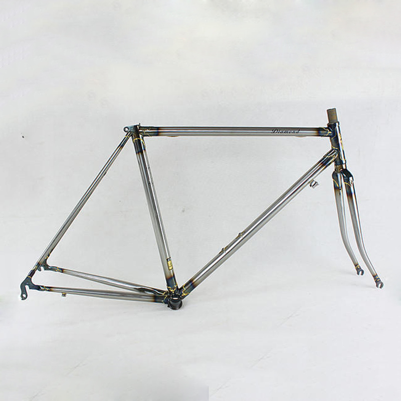 4310 Chrome molybdenum steel FIXED gear Bike Copper plated  frame DIY  frame fixie bike frame 700 C  520 tube  50 cm 52 cm