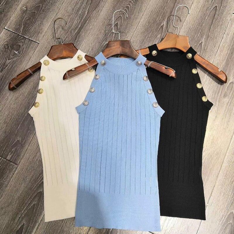 Chemise Femmes Réservoir Gilet Printemps Blouses bleu Sexy Unies Blouse Beige Sans Mode Halter Manches Hauts noir Chemisiers Op4dqOz