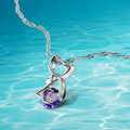 Brand new fashion  jewelry,925 sterling silver cat pendant necklace ,amethyst necklace  for women & girls,crystal necklace