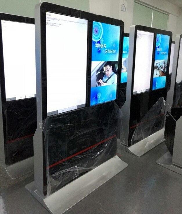 55 pouces 47 pouces 42 pouces double LCD tactile interactif affichage publicitaire lecteur publicitaire 3g 4g wifi android affichage numérique