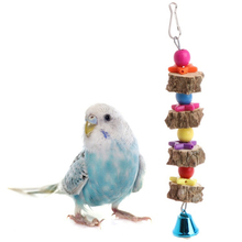 1pcs Pet Toy supplies natural wood Material bird parrot molar toy chew hanging cage pepper bite string