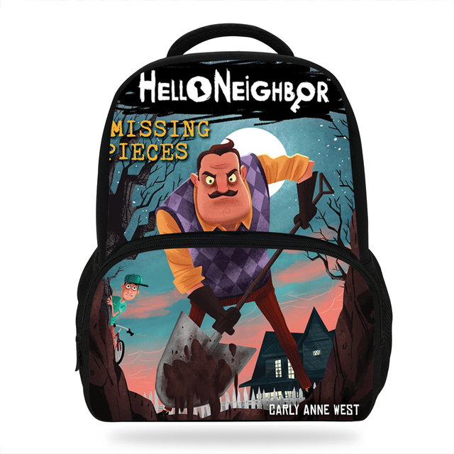 14inch Hot Sale Print Bag For Children Boys Girls Hello Neighbor Backpack  For Kids School Bookbags For Pupil Casual Bag 42ed84a64fa48