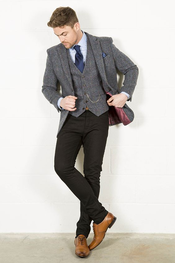 Compare Prices on Grey Tweed Jacket Men- Online Shopping/Buy Low ...