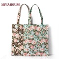 Miyahouse New Fashion Women Designer Handbags High Quality Beach Bag Floral Printed Canvas Tote Female Waterproof Shoulder Bag