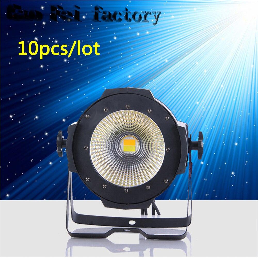 10pcs/lot 100W COB LED par light DMX Theater Spotlight 2in1 LED Stage Lighting Projector high bright dmx stage cob led light цены онлайн