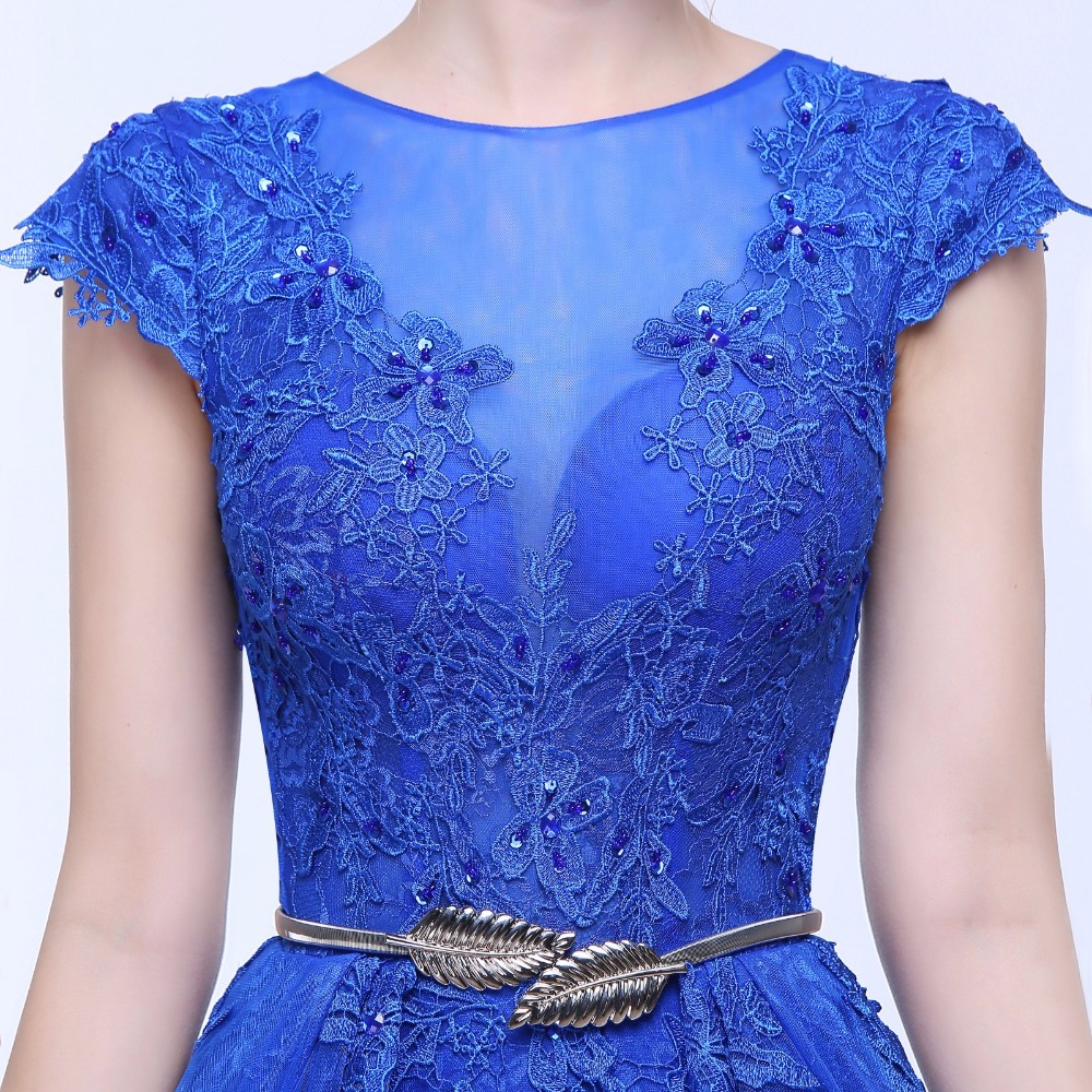 ANTI Royal Blue Mermaid Aftonklänning O-Neck Lace Två Stycken - Särskilda tillfällen klänningar - Foto 5