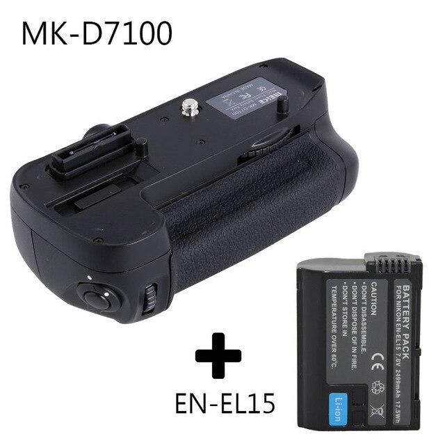 Meike Verticale Batterie support de prise en main pour Nikon D7100 D7200 comme MB-D15 + EN-EL15 batterie