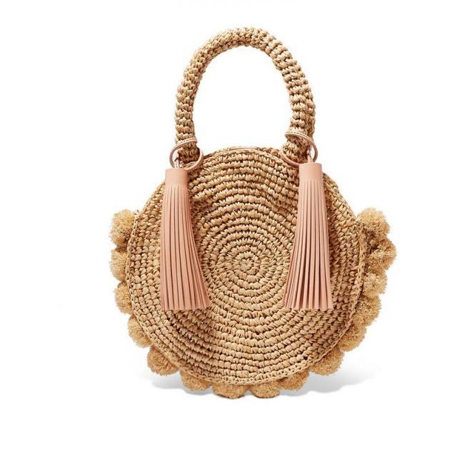 Fashion Round Straw Bags Bohemian Tassel Rattan Women Handbags Woven Crossbody Shoulder Bags Designer Ball Summer Beach Purse