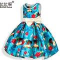 Novo 2017 natal Moana Meninas Vestido Cosplay Vestido de Princesa Crianças Vestido de Roupas Vestidos de Crianças Para Meninas