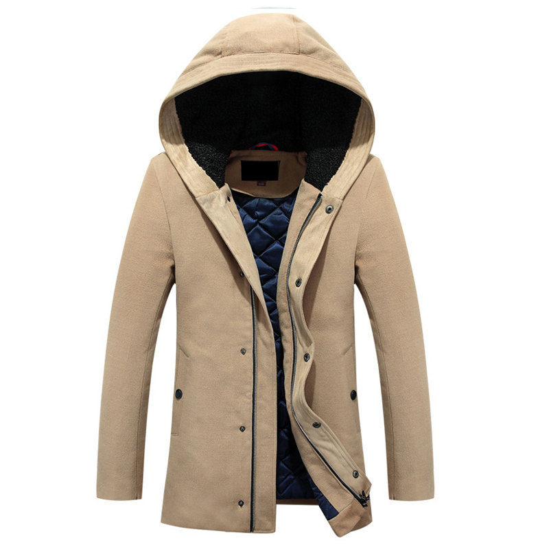 Winter jacket Men New Fashion Design Cashmere cotton warm coat high quality Solid Casual Hooded jacket and coats XJG5902 2016 new arrival men s winter jacket casual slim fit fashion solid hooded man jacket winter warm high quality m 4xl