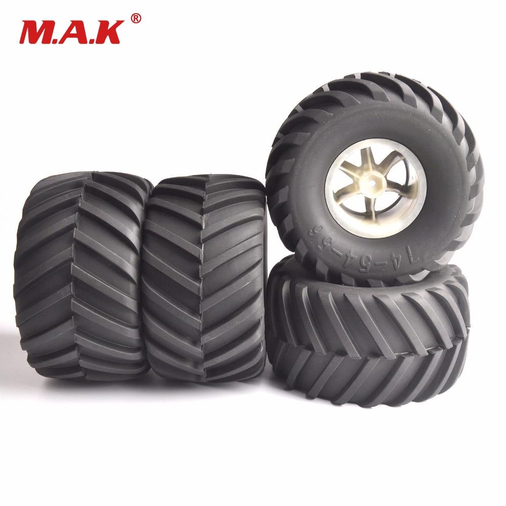 RC big foot tires 26403 rubber tyre rims 4pcs/set for 1/8 truck racing car RC Traxxas Summit E-Revo TM E5 E63 4pcs set rubber tyre tires