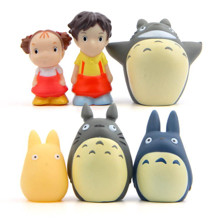 2017 TOTORO mini Ghibli Cute Movie Anime Action Figure Plastic PVC Model Home Car Decoration Dolls Christmas Gift Kids Toy Set high quality resin bichon frise dog figure car styling home room decoration love poodle decorative article christmas gift toy