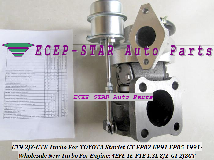 Free Ship New CT9 Turbo Turbine Turbocharger For TOYOTA Starlet 4EFE EP82 EP91 EP85 1.3L Engine 2JZ-GT Turbo