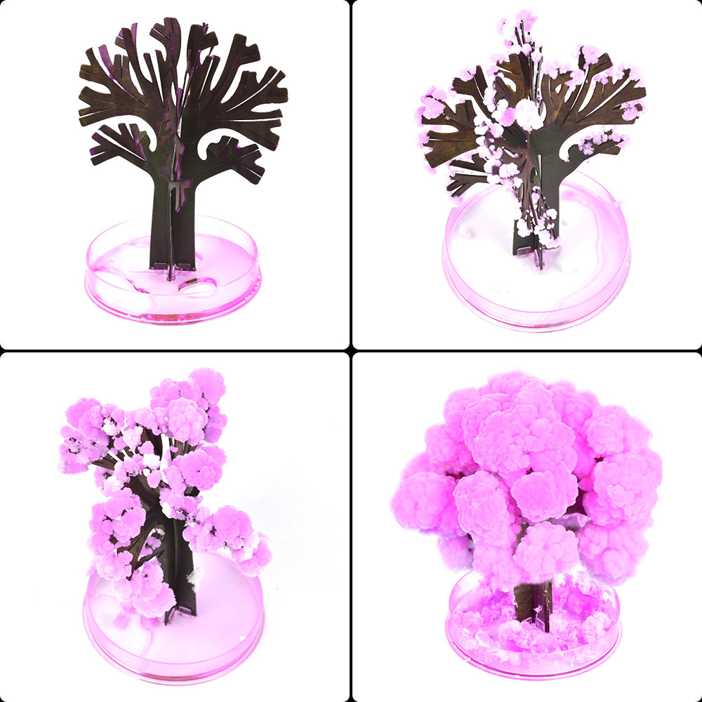 magic growing paper sakura anti stress Artificial Trees Decorative Growing DIY Paper Tree Gift Novelty Visual Magic kids toys ...