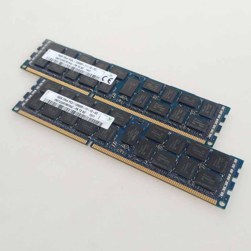 2x16GB PC3-12800R DDR3 1600mhz ECC Memory REG Registered 240-pin RAM 2RX4 server memory new 16gb 2x8gb ddr3 pc3 12800 1600mhz desktop memory ram dimm 240 pin 16g 1600mhz low density cl11 non ecc free tested