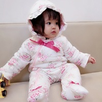 New Born Baby Girl Winter Clothes Thick Cotton Baby Winter Rompers Long Sleeve Warm Overalls Newborn Baby Girl Winter 3 Months