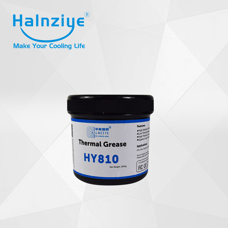 high quality heat sink nano thermal conduction/conductive paste compound grease HY810 syringe 1000g for computer repairing high quality pneumatic paste
