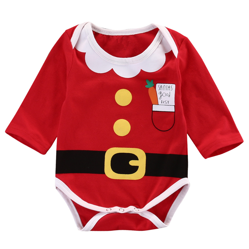 Christmas Clothing Fashion Baby Boy Girl Clothes Winter Baby Long Sleeve Romper Jumpsuit Xmas Cotton Bebes Clothes Boy Outfits Boys' Baby Clothing