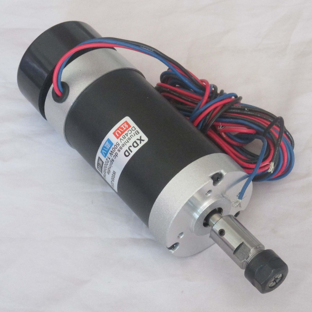 Er11 48v500w High Speed Air Cooled Brushless Spindle Motor