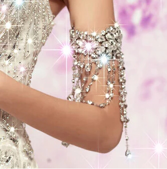 Neue Braut Armband Wassertropfen Stil Ketten Kristall Armband Schmuck - Modeschmuck - Foto 4