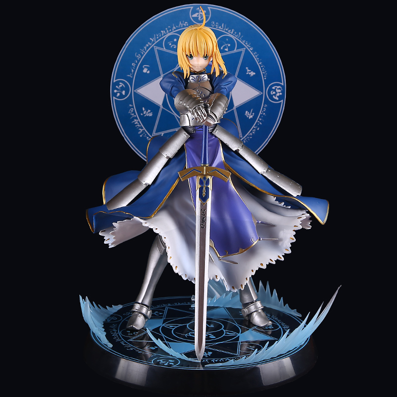 ZXZ Anime Fate Stay Night Altria Pendragon UBW Saber PVC Action Figures Collectible Model Toys 23cm le fate топ