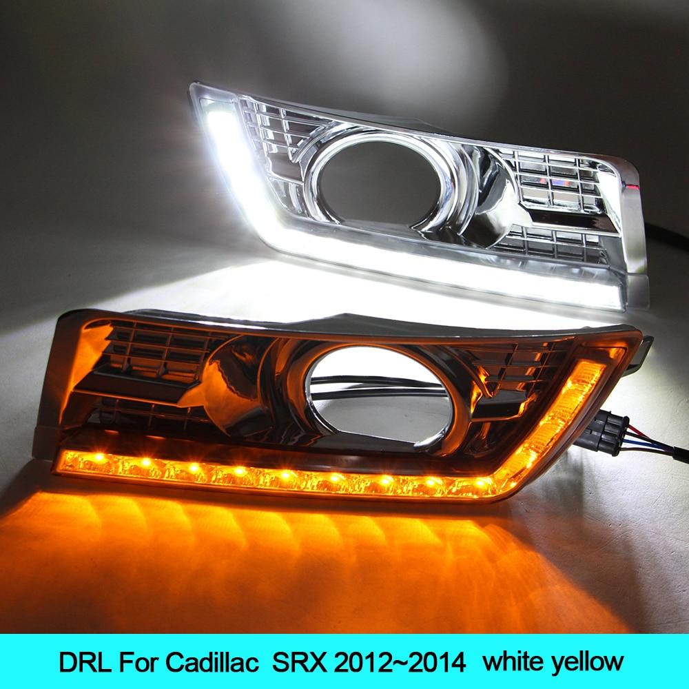 12v car led turn signal light kit for cadillac srx 2012 2013 2014 drl car styling