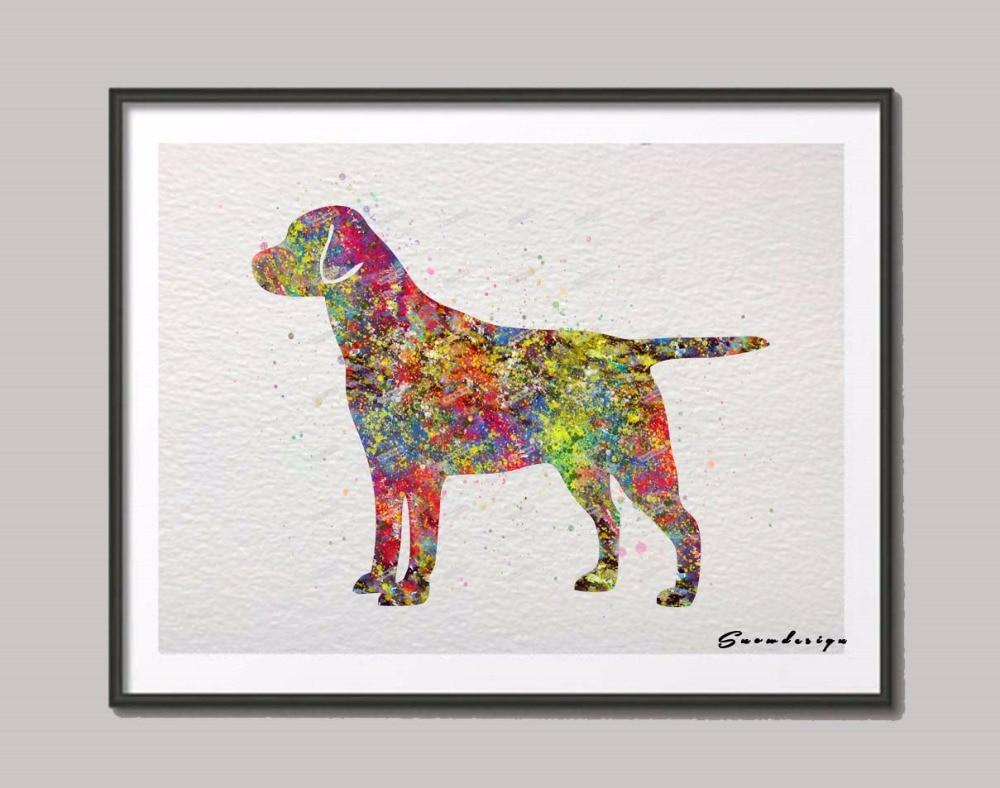 Labrador Retriever Original watercolor canvas painting Dog wall art ...