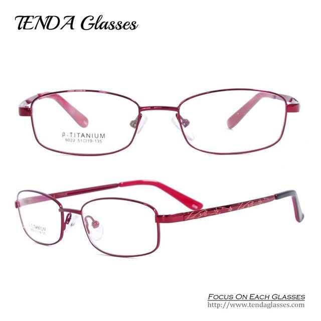 Titanium flexível armações de óculos mulheres óculos óculos de prescrição miopia & leitura