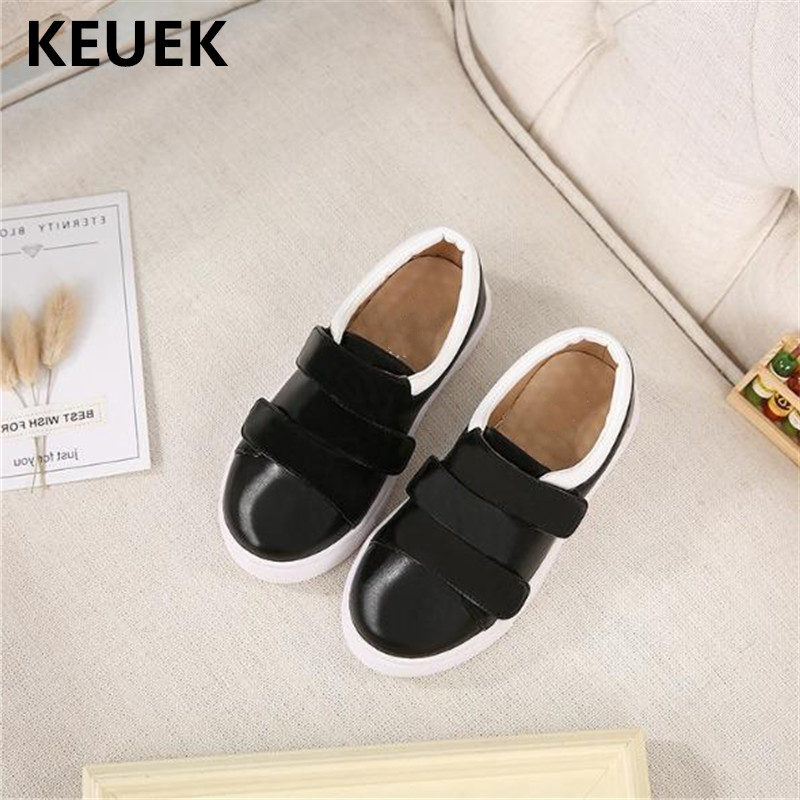 New Boys Girls Casual Loafers Black Children Dress Shoes Baby Toddler Breathable Flats Student Leather Shoes Kids Spring 03