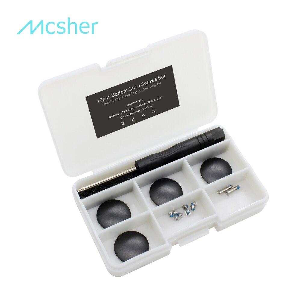 10 Stks Bottom Case Schroeven Rubber Case Voeten Kit Set Macbook A1370 A1465 A1369 A1466 Met Een Schroevendraaier