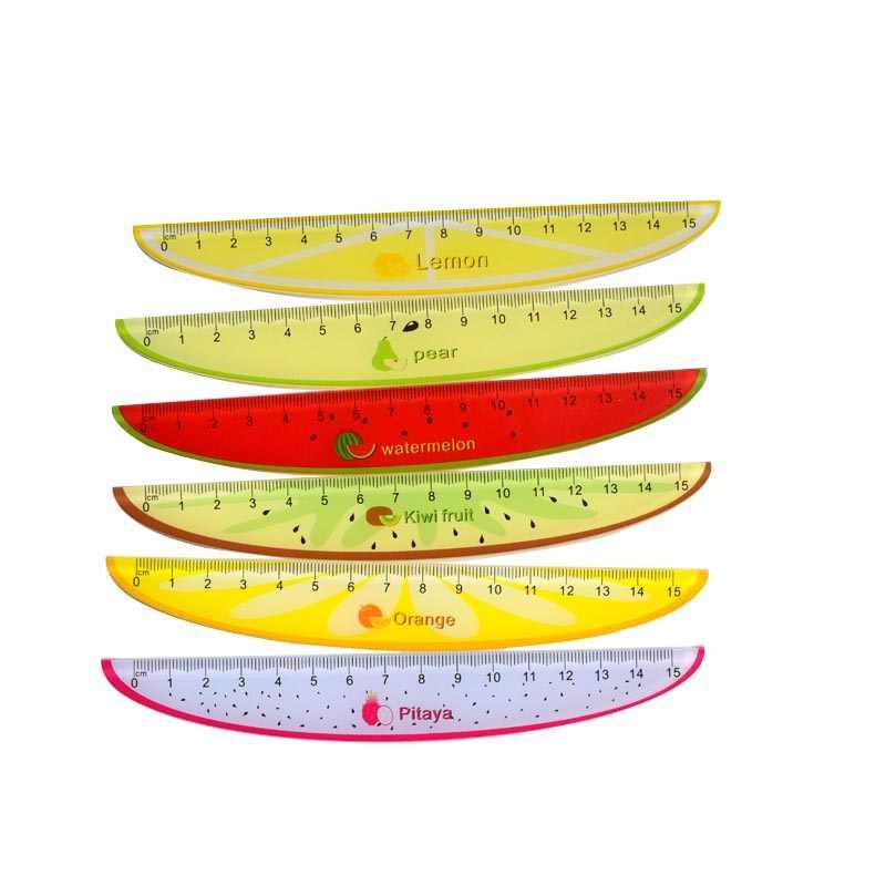 Линейки милые стационарные фрукты Лекало для школы лоскутное детские метрические Школьные Аксессуары Инструменты уголок радости