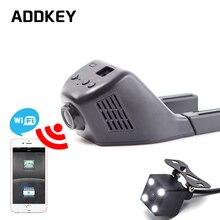 ADDKEY Автомобильный Видеорегистратор Мини Wi-Fi Камера Автомобиля Даш Cam Регистратор Видеорегистратор Видеокамера Full HD 1080 P с Двумя Объективами Dvr Поддержка приложение