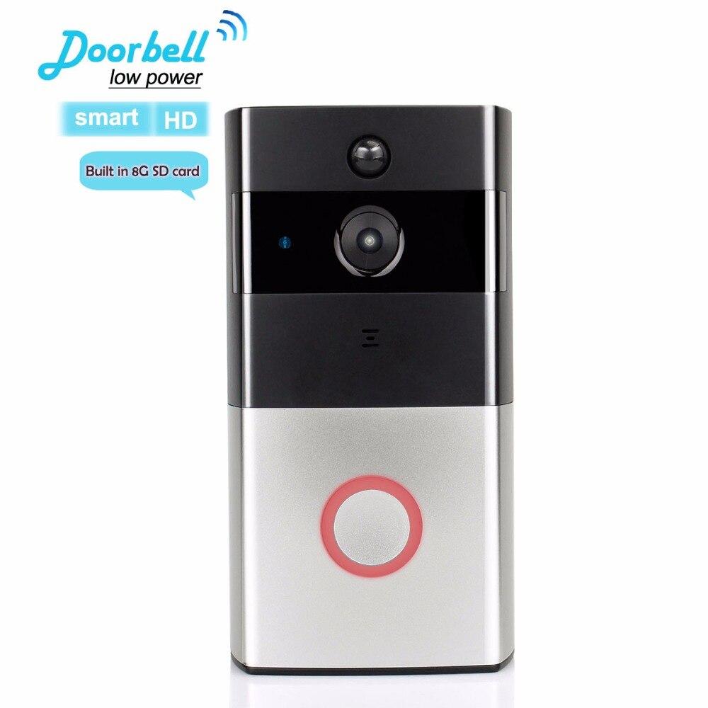 Smart HD WiFi vidéo sonnette bidirectionnelle parler sans fil sonnette batterie faible puissance grand angle porte contrôle d'accès F1777A