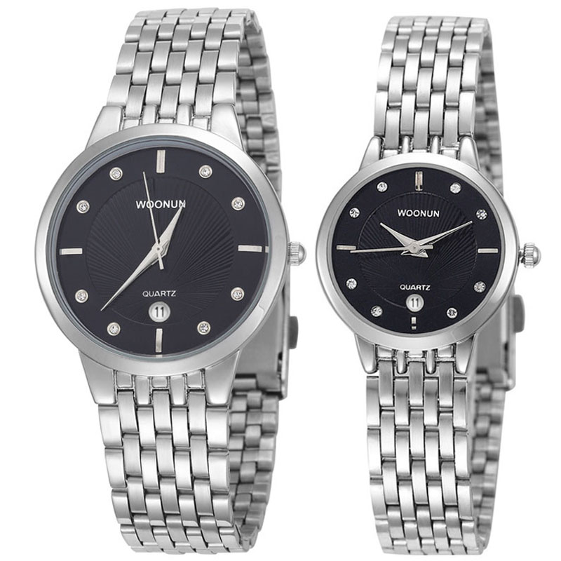 online get cheap watch gold best men aliexpress com alibaba group woonun branded couple watches for men and women stainless steel quartz ultra thin watches luxury gold watch set best gift